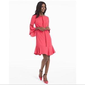 White House Black Market Dresses - White House Black Market Bell-Sleeve Shift Dress